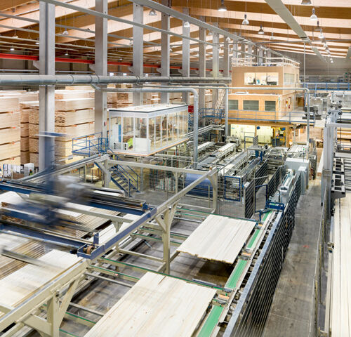 Laminated timber plant